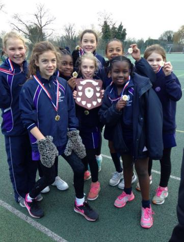 Y5 netball A team tournatment win 12Feb2016